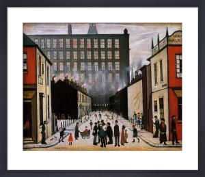 Street Scene (Pendlebury) - (medium) by L S Lowry