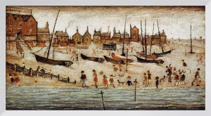 The Beach by L S Lowry
