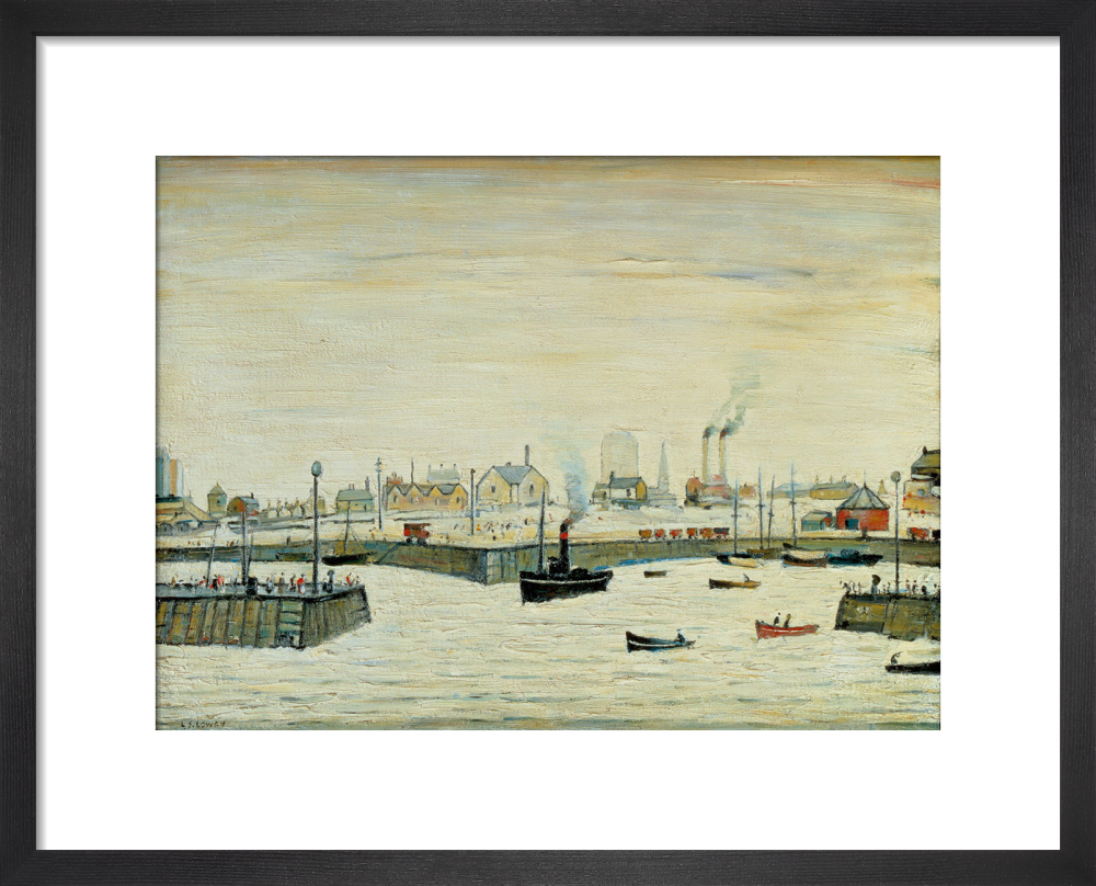 The Harbour (Maryport) 1957 Art Print by L S Lowry   King & McGaw