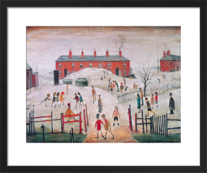 The Schoolyard by L S Lowry