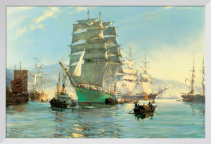 The 'Thermopylae' Leaving Foochow by Montague Dawson