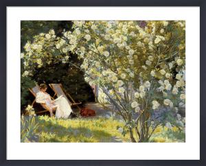 Havepartie med Marie Krøyer by Peder Severin Kröyer