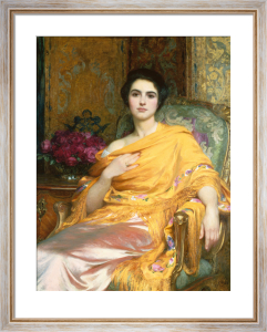 Portrait of Elsa by Sir Frank Dicksee