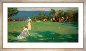 The Croquet Match by Sir John Everett Lavery