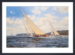 Candida and Astra off Cowes by Steven Dews