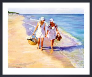 Conversation on the Beach by Susan Kuznitsky