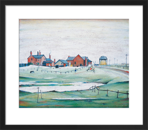 Landscapes with farm buildings, 1945 by L S Lowry