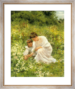 Picking Daisies by Hermann Seeger
