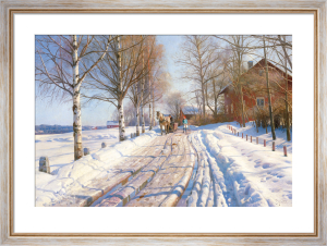 Winter scene by Peder Monsted