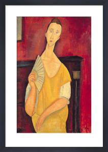 Woman with a Fan, 1919 by Amedeo Modigliani