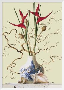 Still life with chinese vase, shells by Ruud Verkerk