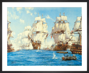 Battle of Trafalgar by Montague Dawson