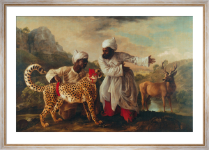 Cheetah and stag with two indians by George Stubbs
