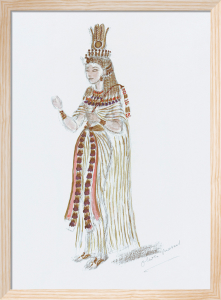 Designs For Cleopatra XLVI by Oliver Messel