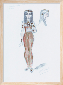Designs For Cleopatra L by Oliver Messel