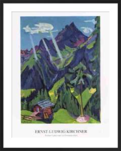 Buendner Landschaft mit Sonnenstrahlen by Ernst Ludwig Kirchner