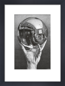 Hand with Sphere by M.C. Escher