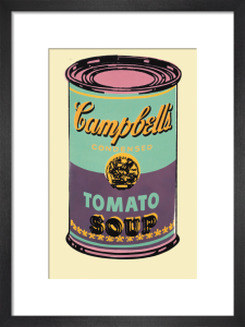 Campbell's Soup Can, 1965 (green & purple) by Andy Warhol