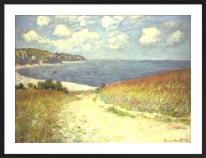 Chemin dans les bles a Pourville, 1882 by Claude Monet