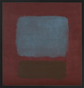 Nº.37 & Nº.19 (Slate Blue and Brown on Plum) by Mark Rothko