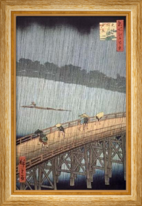 A Sudden Shower by Ando Hiroshige