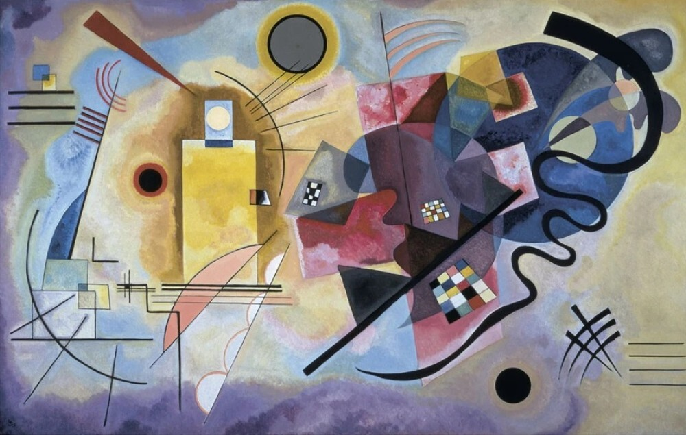 Charmant Yellow, Red, Blue, 1925 By Wassily Kandinsky
