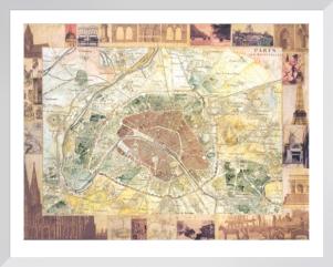 Carte de Paris II by Susan Gillette