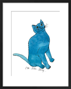 One Blue Pussy, c. 1954 by Andy Warhol