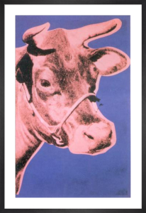 Cow, 1976 (pink & purple) by Andy Warhol