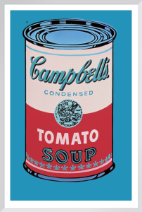 Campbell's Soup Can, 1965 (pink & red) by Andy Warhol