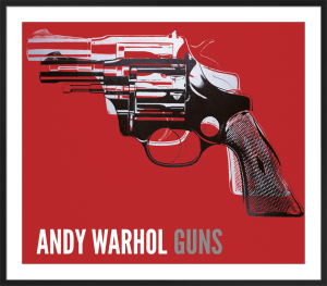 Guns, c.1981-82 (white and black on red) by Andy Warhol