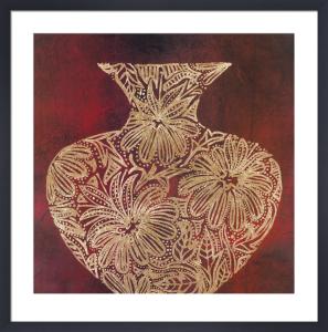 Eggplant Vase (gold foil stamped) by Susan Gillette