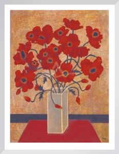 Scarlet Poppies by Beverly Jean