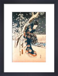 Snow Scene in the Garden of a Daimyo by Ando Hiroshige