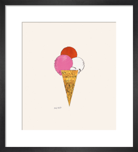 Ice Cream Dessert, c.1959 (red, pink, white) by Andy Warhol
