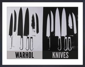 Knives, c.1981-82 (silver & black) by Andy Warhol