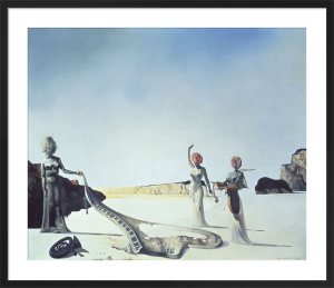 Three Young Surrealist Women ..... by Salvador Dali