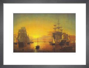 Boston Harbor, about 1850-55 by Fitz Hugh Lane