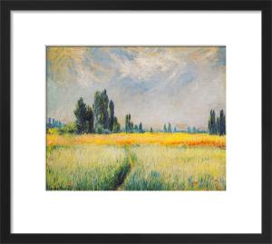 Wheatfield, 1881 by Claude Monet