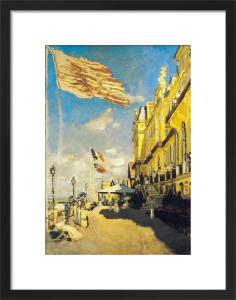 Hotel des Roches Noires, Trouville. 1870 by Claude Monet
