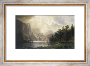 Among the Sierra Nevada, California, 1868 by Albert Bierstadt