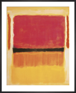 Untitled (Violet, Black, Orange, Yellow on White and Red) by Mark Rothko