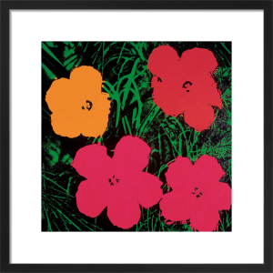 Flowers c.1964 (1 red, 1 yellow, 2 pink) by Andy Warhol