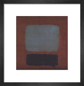 Slate Blue and Brown on Plum (No.37 No.19) by Mark Rothko