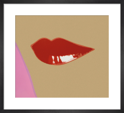 1 page from Lips Book, c.1975 by Andy Warhol