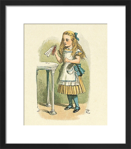 How Alice grew tall by Sir John Tenniel