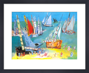 Boats in the Port by Jean Dufy