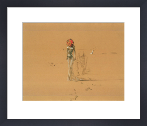 Female Figure with Head of Flowers by Salvador Dali