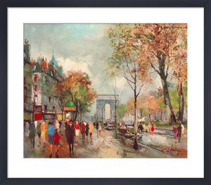 Paris, Champs Elysees by Fernand Claver