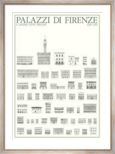 Florence - Palazzi di Firenze by Architekturplakate